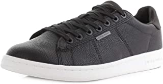 Mens Jack and Jones Bane Anthracite Black Grey Casual Trainers Size