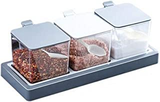 WZHZJ Boîte d'assaisonnement boîte de Rangement de Sucre de sel Comestible Support en Plastique Pot d'assaisonnement assai...