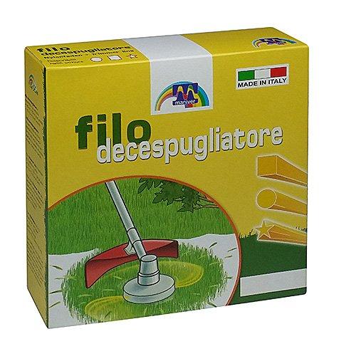 Maniver Filo per decespugliatore tondo, diametro 3,0 x 100 mt