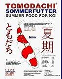 Koifutter, Sommerfutter Koi, Spirulina und Astax, Premium Koifutter von Tomodachi für überdurchschnittliches Wachstum und herrlich leuchtende Farben bei Allen Koi, 2kg 6mm schwimmende Koipellets
