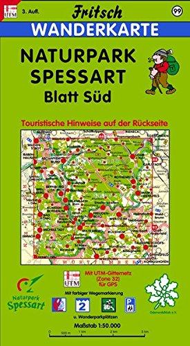 Fritsch Karten, Nr.99, Naturpark Spessart, Blatt Süd: Aschaffenburg, Wertheim, Miltenberg, Amorbach. Offizielle Wanderkarte des Spessartbundes. Mit ... Radwanderwegen (Fritsch Wanderkarten 1:50000)