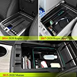 Vesul Center Console Armrest Storage Box Fit for Nissan Rogue 2014-2020 / Rogue Sport 2017-2020 / Murano 2015-2020 ABS Tray Insert Organizer Glove Pallet