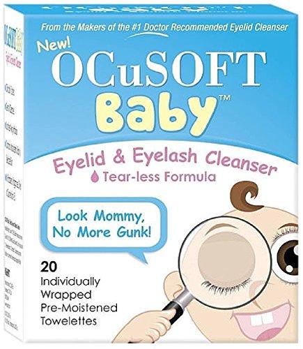 OCuSOFT Baby Eyelid & Eyelash Cleanser Towelettes 20 ea (Pack of 3)