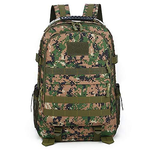 YHSW Multifonctionnel Tactique Militaire Sac à Dos Adulte randonnée/randonnée/Sac à Dos extérieur Camouflage Jungle 48x34x19cm