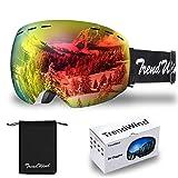 Gafas de Esquí - OTG conProtección UV400, antivaho, Lentes esféricas antirreflejos de Doble Capa para Mujeres y Hombres Deportes al Aire Libre Gafas de Nieve
