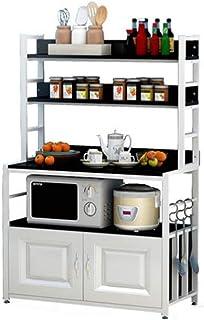 KOKOF Support de Rangement de Cuisine Ménage sur Pied Multicouche Multifonction Four à Micro-Ondes Stockage de Stockage av...