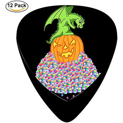 Halloween-Drache und der Süßigkeiten-Schatz Celluloid-Gitarren-Picks Einzigartige Designs Musikgeschenke