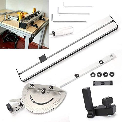 Professionele verstekbak Joint jig kit Verstelbare flip Stop 450 mm voor Tafelzaag/Router zagen Accessoires Liniaal