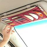 Bustina organizer per parasole auto, per carte, CD ecc, donna Uomo, Wine Red