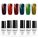 ROSALIND Gel-Lack 6 Farben Set Nagellack-Gel Katzenauge glish Tauchlack für Maniküre 7ml