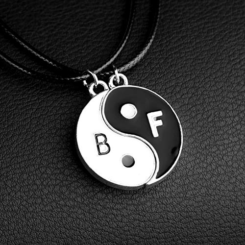 U/N Yin Yang Necklace, Tai Chi Pendant Friendship Necklace, Jewelry 2 pcs Women/Men Necklace Yin Yang Pendant for Couples Lovers Best Gift (A1063)
