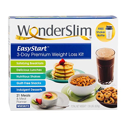 WonderSlim EasyStart 3-Day Premium Weight Loss Kit with 21 Meals, Daily Meal Plan, and Shaker Bottle