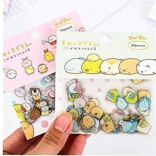 De Kawaii Engomada Transparente De Pvc Animales Decorativos Pegatinas Para Coreana De Los...