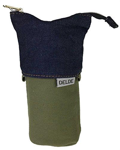 サンスター文具 ペンケース デルデ スリムポーチ デニム カーキ S1415905
