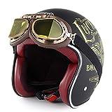 ZOLOP Motorradhelm · 3/4 Jethelm, Roller Moped-Kreuzer Pilot Biker Chopper Unisex Erwachsener Moto...