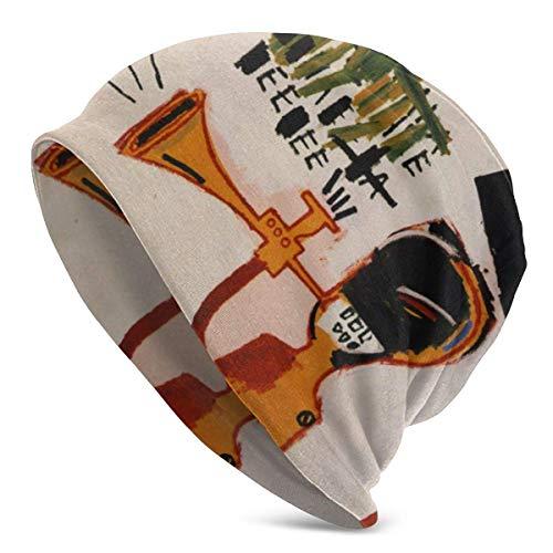 lymknumb Sombrero holgado holgado, gorro de punto para hombres, gorro holgado con calavera, sombreros resistentes, gorras de reloj de trineo, gorro con gorro, Jean-Michel Basquiat