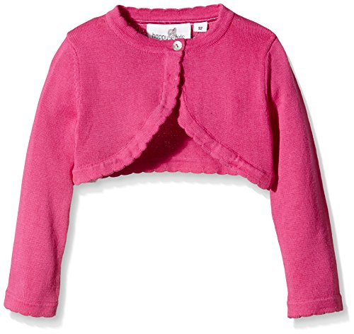 Happy Girls Mädchen Strickjacke Basic Bolero, Einfarbig, Gr. 128, Rosa (pink 36)
