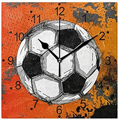AmyyEden Grunge - Reloj de Pared de Madera con diseño de balón de ...