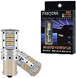 2pcs S25 1156 ba15s P21W LED CANBUS naranja 12V bombillas indicadoras de dirección para automóviles ambar