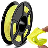 SUNLU TPU Flexible Filament 1.75mm for 3D Printer 500g/Spool Dimensional Accuracy +/-0.03mm, Yellow