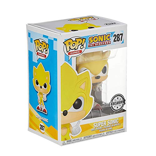 Funko Pop Games : Super Sonic - Sonic (Limited Edition) 3.9inch Vinyl Gift for Boys Games Fans Gift