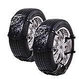 crosofmi catene da neve universali omologate auto facilità di installazione pneumatici larghezza 165-285 mm (6 pezzi nero)