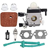 Sanfiyya Reemplazo cortabordes carburador Kit carburador Compatible con Sthil Fs38 FS45 FS46 Fs55 km55 Fs85 Edger