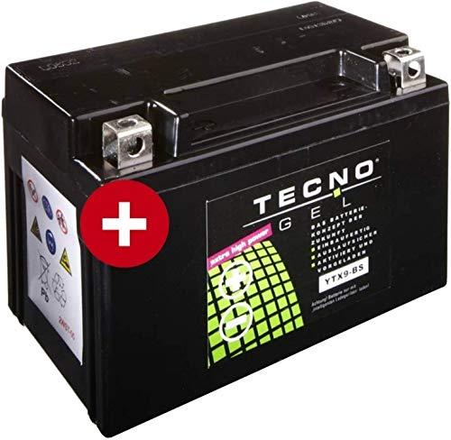 YTX9-BS Tecno Gel-bateria para KLX 650 C Año 1993-1995