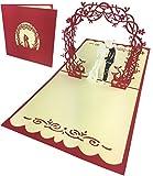 endlosschenken Hochzeitskarte 3D Pop-Up Glückwunschkarte zur Hochzeit Brautpaar Geldgeschenk