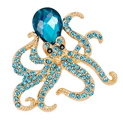 SM SunniMix Broche de Insectos de Escarabajo de Diamantes de Imitación de Esmalte Elegante Pin Bisutería - Color 4, 3.7x3.9cm
