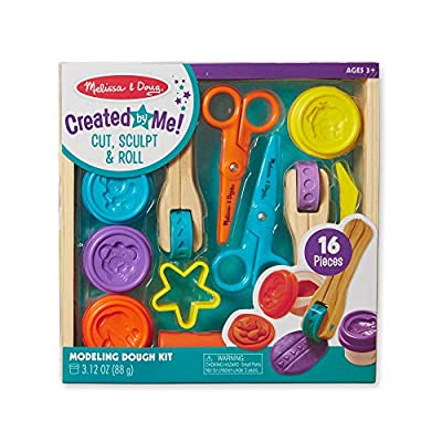 Melissa & Doug Created by Me! Cut, Sculpt, and Roll Modeling Dough Kit With 8 Tools and 4 Colors of Modeling Dough by Melissa & Doug