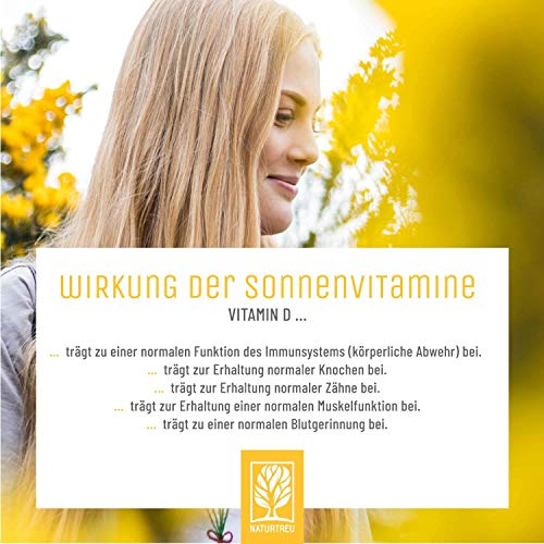 Vitamin D3 K2 Tropfen hochdosiert und vegan - 100% pflanzlich (ohne tierisches Lanolin) - 1000 IE Vitamin D vegan & Vitamin K2 - Sonnenfreund D3K2 Öl geprüft & hergestellt in Deutschland - 4