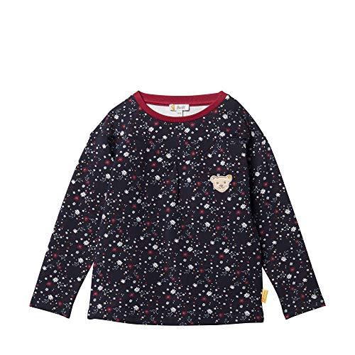 Steiff Mädchen Sweatshirt, Blau (BLACK IRIS 3032), 104 (Herstellergröße:104)