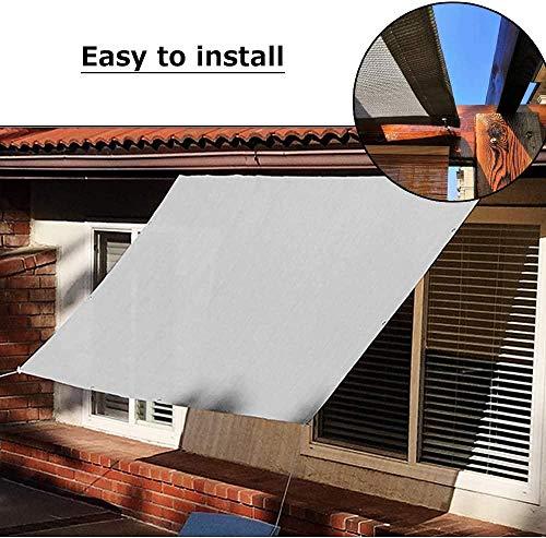 Shade Brise Vue für Balkon Sichtschutz - UV-Strahlenschutz Atmungsaktive Stoffe - für Patio-Garten im Freien - Schatten Leinwand-B2 x L3-m_Grau_ 0727