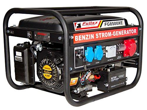 Fullex FLS-8500XE - Generatore di corrente con potenza continua 3,5KW e commutatore tra 230Volt e 380Volt, 2in 1