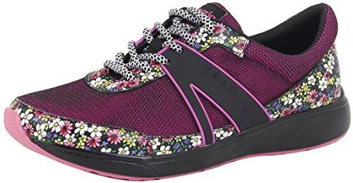 TRAQ BY ALEGRIA Qarma Womens Smart Walking Shoe Wild Flower 8 M US