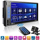 Double Din Car Stereo in-Dash Digital Media Car Stereo Receiver with Bluetooth,...