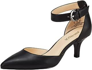 Women's Kitten Heel Pumps Ladies Closed Pointed Toe D'Orsay Ankle Strap Dress Stiletto