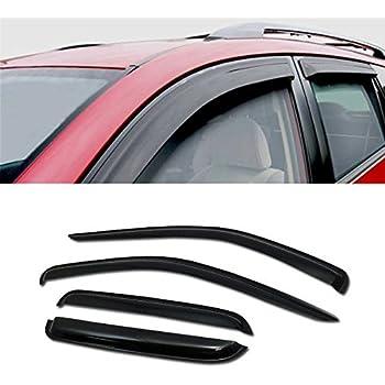 2mm Thickness Outside Mount Visor Rain Guard For Dodge Dakota EXT Cab 87-96 4pcs