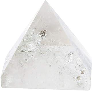 TOPINCN Natural Cristal Blanco Pirámide de Cuarzo Energía Curativa Chakra Equilibrio Fengshui Escultura Decoración del Hogar Ornamento Colección Regalo
