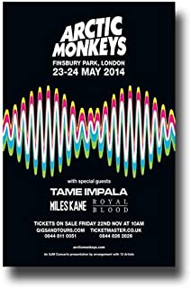 Arctic Monkeys Poster - Concert Promo 11 x 17 w/ Tame Impala and Royal Blood