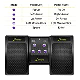 Donner Wireless Page Turner Pedal for Tablets Phone Foot Pedal Rechargeable,Black