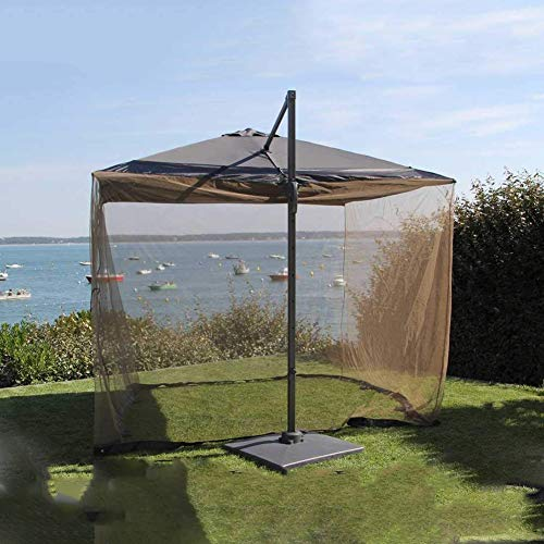 Hspoup Outdoor 9/10FT Outdoor Umbrella Table Screen Mosquito Bug Insect Net Mesh Garden,Black