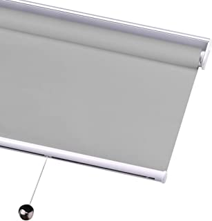 Roller Blinds Blackout Window Shades Venetian Blinds Spring Lift Office Bathroom Waterproof Curtain 99% Sunscreen, Custom Size (Color : A, Size : 43
