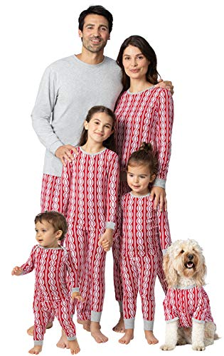 PajamaGram Matching Christmas PJs for Family, Peppermint Twist, Womens 3X 24-26
