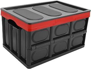 Somine pliable panier de rangement de voiture avec couvercle - 52 litres polyvalent de stockage Bin solide mur utilitaire ...