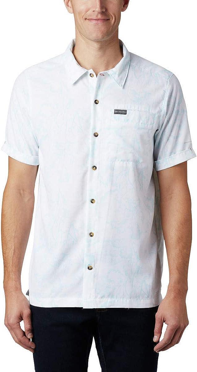Moisture Wicking Columbia Mens Outdoor Elements Short Sleeve Print Shirt
