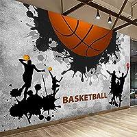 モダンでクリエイティブな3D壁紙壁紙壁とバスケットボールの壁の装飾-430cmx300cm不織布プレミアムアートプリントフリース壁壁画装飾ポスターPictur