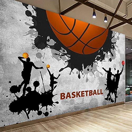 LXiFound Papel Pintado Autoadhesivo - Baloncesto Negro Blanco Deporte - Papel Tapiz Fotográfico Con Efecto 3D Mural Papel Pintado Murales Pared Papel Para Pared Foto Mural Pared Decorativo