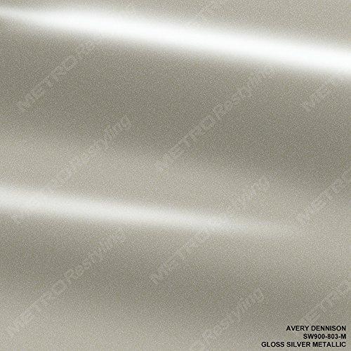 Avery SW900-803-M GLOSS SILVER METALLIC 5ft x 3ft (15 Sq/ft) Supreme Vinyl Car Wrap Film